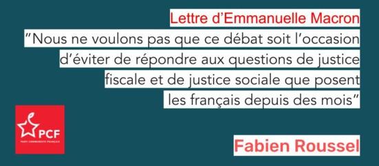 Lettre d'Emmanuel Macron : Faire grandir des propositions permettant d'augmenter le pouvoir d'achat (PCF)