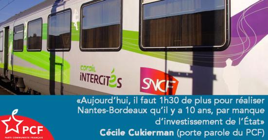Ouverture à la concurrence des trains Inter-Cités : un contre-sens historique ! (PCF)