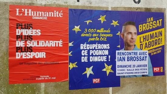 La liste conduite par Ian Brossat (PCF) pour les élections européennes