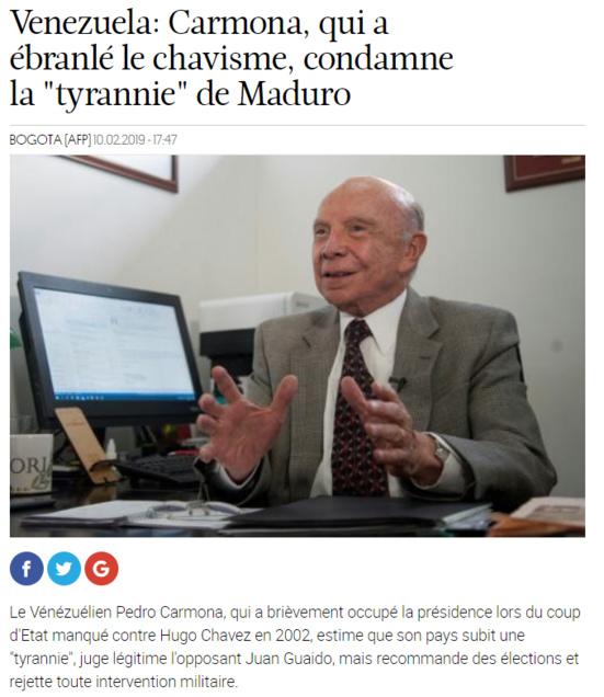 L'AFP déterre un ancien putschiste pour trouver des soutiens au putschiste Guaido