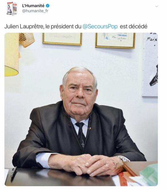 Julien Lauprêtre, Président du Secours populaire, est décédé