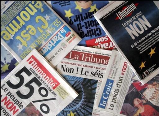 """Il y a un an la France rejetait le projet de constitution européenne, fondées sur """"la concurrence libre et non faussée"""""""