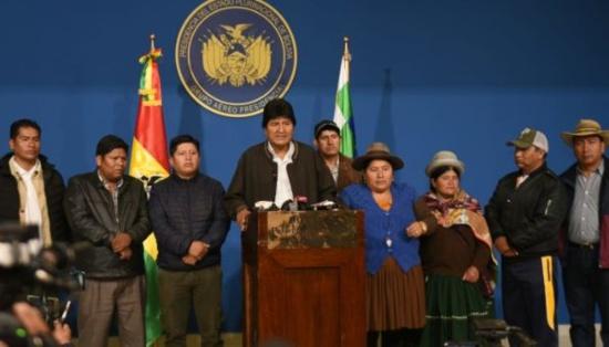 Evo Morales annonce de nouvelles élections et appelle à la paix en Bolivie