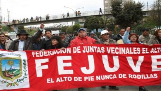 Bolivie : La puissance organisation sociale Fejuve donne 48h aux putschistes pour quitter La Paz