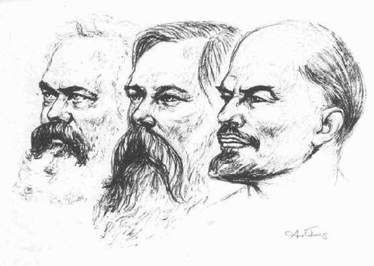 Marx Engels et Lenine
