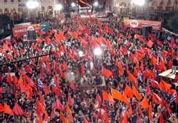Manif du KKE (Grec) pour la Paix