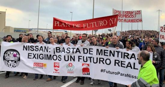 La gauche indépendantiste et communiste exige la nationalisation de Nissan suite à l'annonce de la fermeture de trois usines en Catalogne