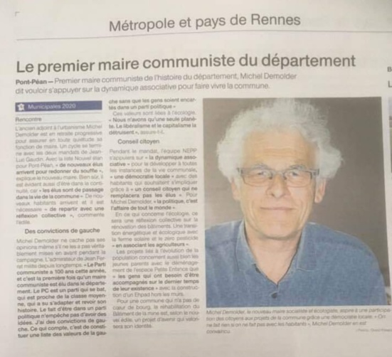 Michel Demolder, le premier maire communiste d'Ille-et-Vilaine