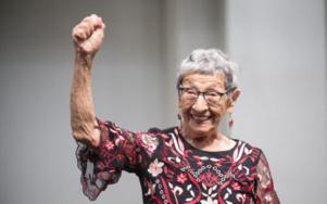 Bea Lumpkin lors de son 100e anniversaire au Chicago Teachers Union Center en 2018