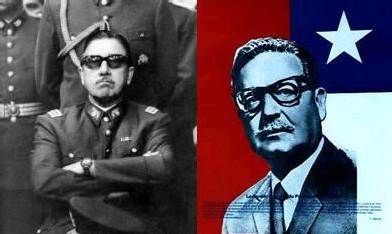 Le dictateur Pinochet et Salvador Allende