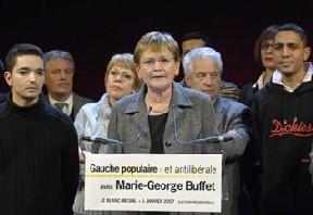 Marie George Buffet réellement candidate des travailleurs!