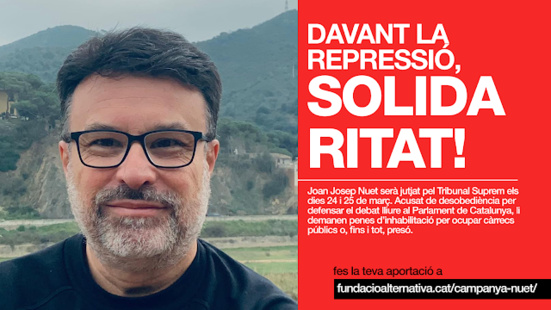 En soutien à Joan Josep Nuet (Appel de 30 Partis communistes et ouvriers)