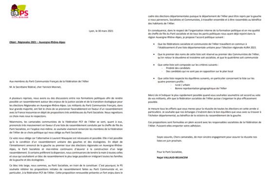 Le coup de poignard de la fédération de l'Allier contre Cécile Cukierman et les communistes