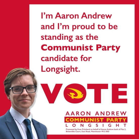 Le Parti communiste (CPB) sera aussi engagé dans les élections locales à Manchester