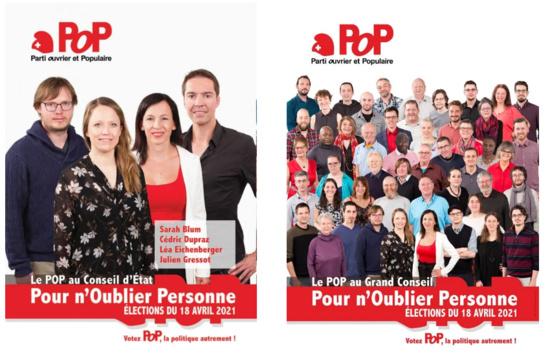 Progression du Parti Ouvrier et Populaire lors des élections cantonales de Neuchâtel (Suisse)