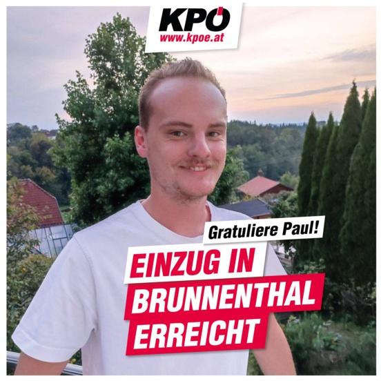 Percée du Parti Communiste d'Autriche (KPÖ) à Brunnenthal