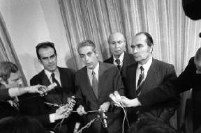 Georges Marchais du PCF, Robert Fabre du MRG et François Mitterand du PS