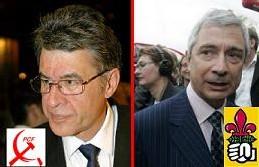 Hervé Bramy président PCF du CG 93, Claude Bartolone député PS