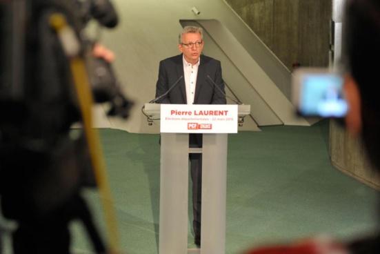 Départementales 2015 - Déclaration de Pierre Laurent (PCF)
