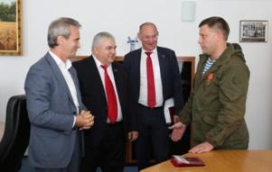 Rencontre entre les communistes russes (KPRF) et le Président Zakharchenko (DNR)