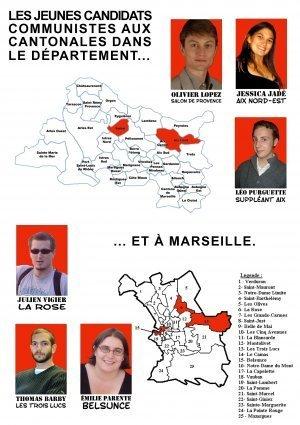 Cantonales 2008 : Présentation des candidats issus des Jeunes Communistes (MJCF)