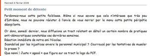 Municipales d'Istres: réaction sur le tract du PCF