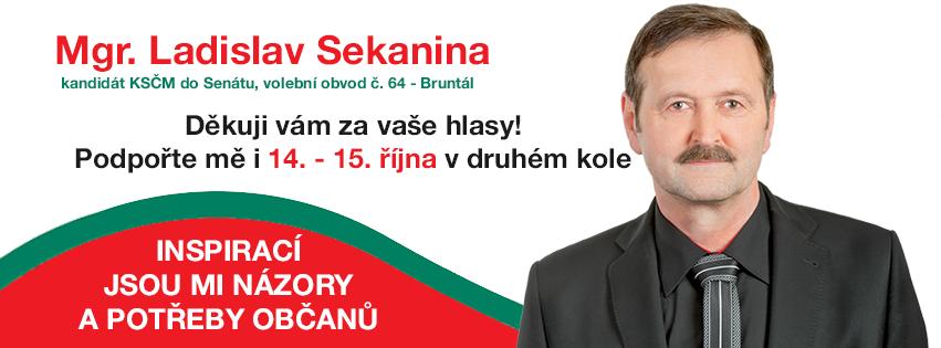 46,59% pour le communiste (KSCM) Ladislav Sekanina