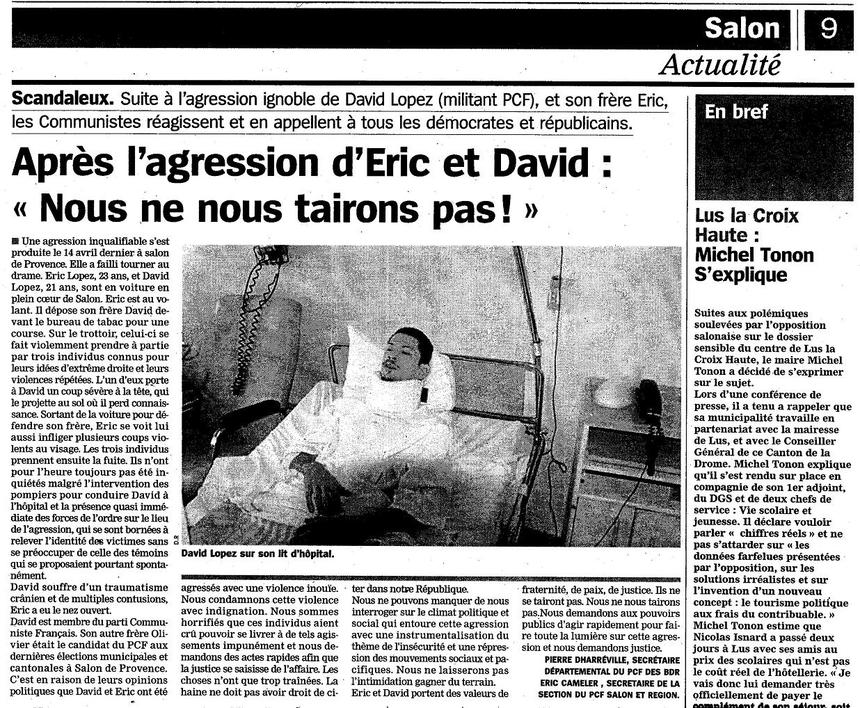 Salon de Provence: le fascisme ne passera pas !