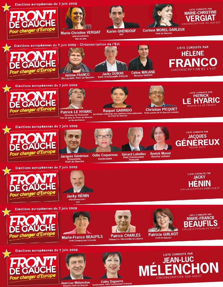 Le 7 juin le vote Front de Gauche et Alliance des Outre-mers