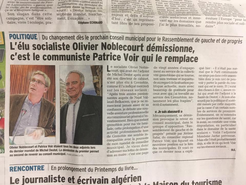 Grenoble : Le retour du Parti communiste au conseil municipal