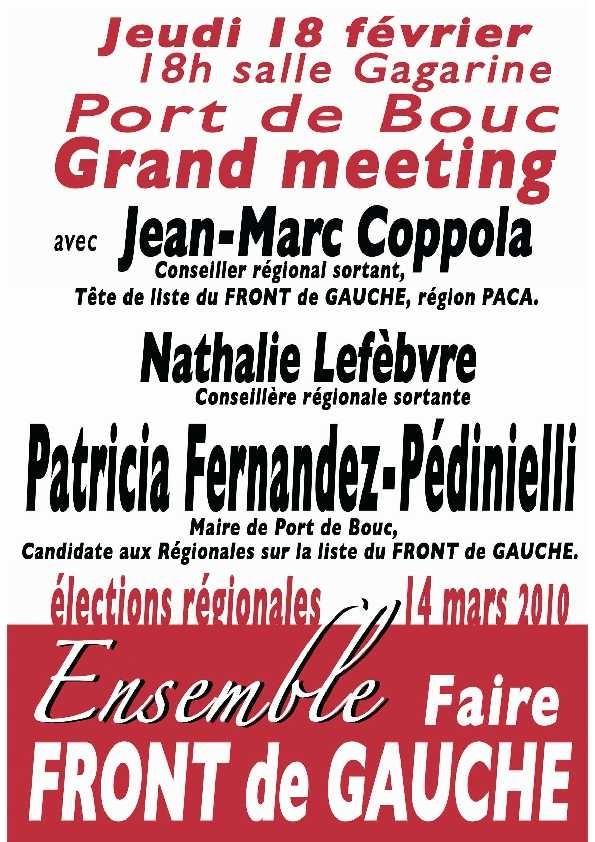 Le Front de Gauche en meeting dans la 13ème circonscription