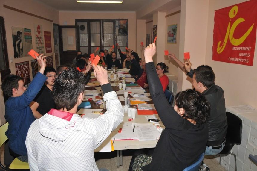 Les Jeunesses Communistes des Bouches du Rhône en congrès