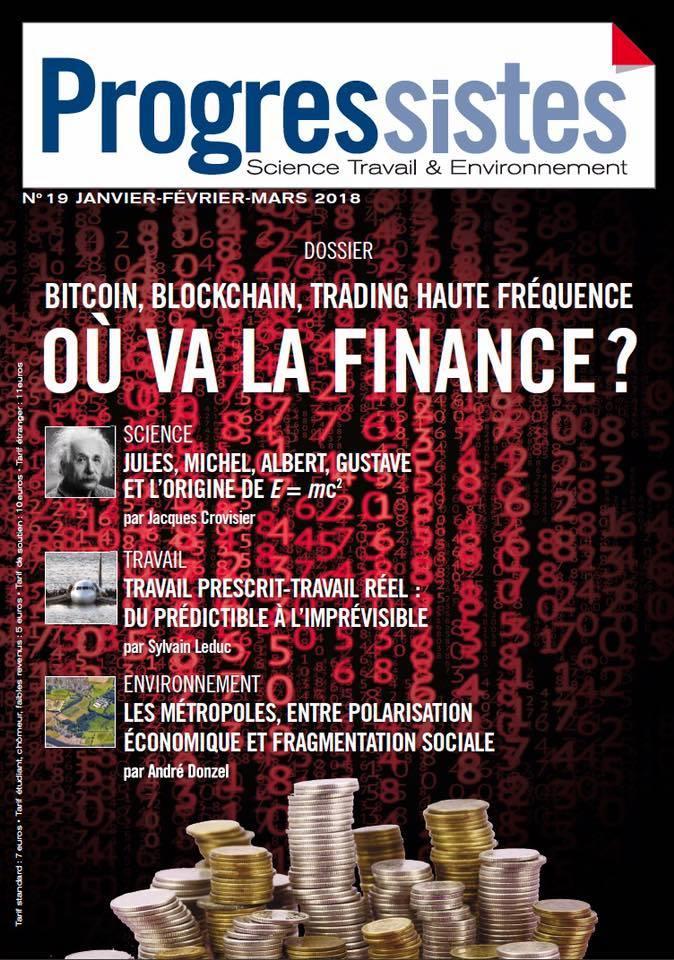 """La revue scientifique du PCF """"Progressistes"""" se penche sur la crypto-monnaie, le bitcoin et le blockchain"""