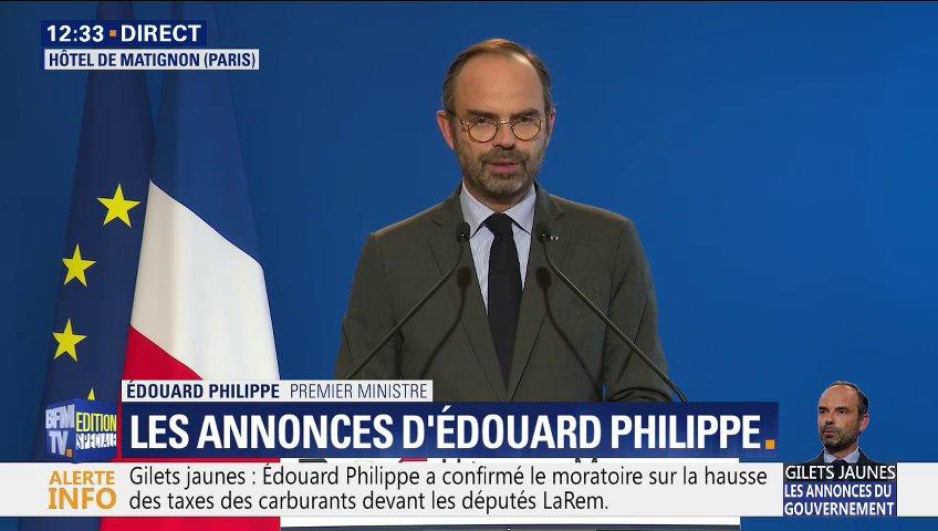 Gilets Jaunes : Le gouvernement annonce un mini recul pour 6 mois