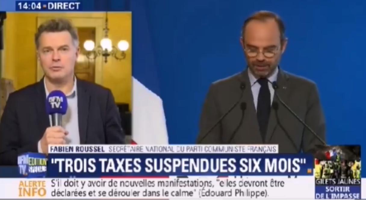 """Annonces E.Philippe : """"Un moratoire ne va pas changer la vie des français.e.s"""" (PCF)"""