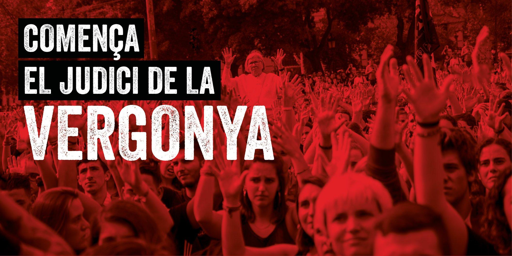La farce judiciaire contre les prisonniers politiques catalans s'ouvre à Madrid