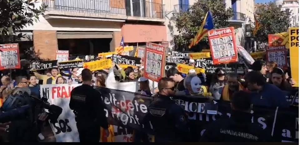 La visite de Pedro Sanchez perturbée en Catalogne-Nord