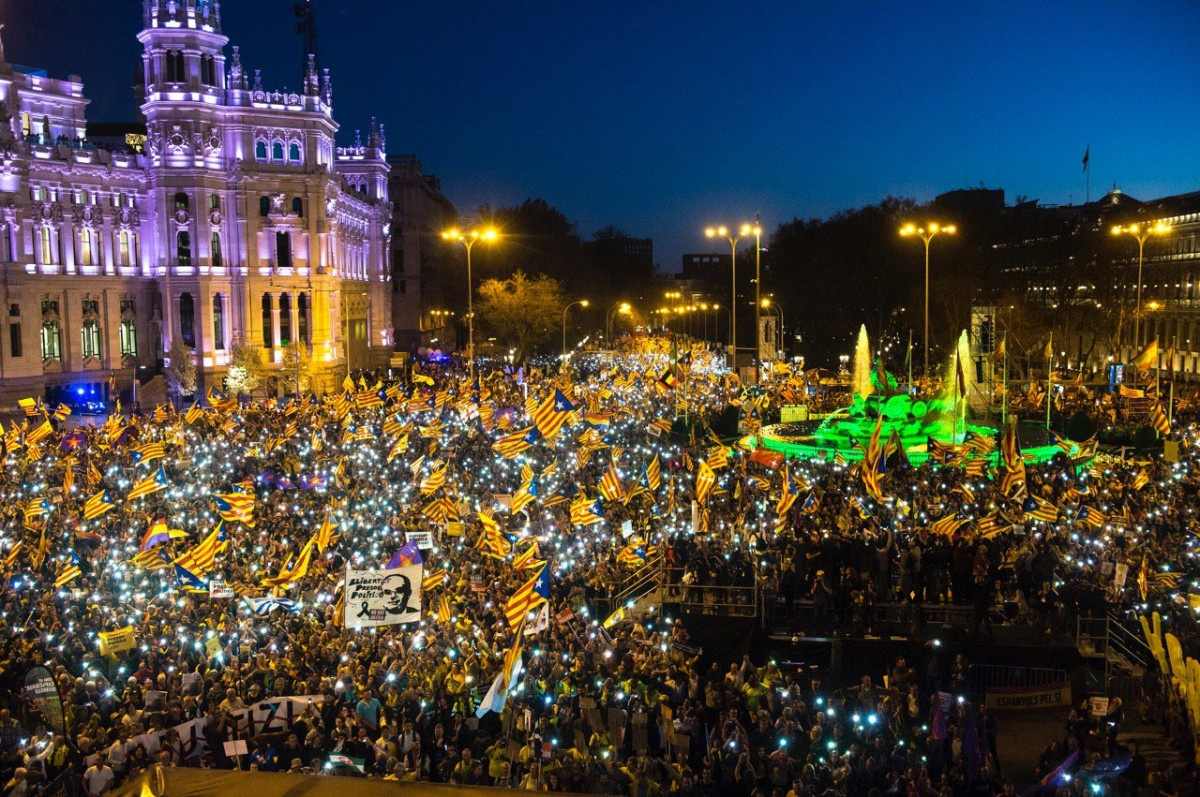 L'indépendantisme catalan réunit 120.000 personnes à Madrid pour rejeter la farce judiciaire