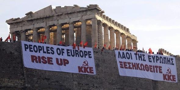 Le Parti Communiste Grec (KKE) est la troisième force politique dans l'Attique