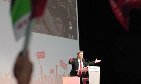 """Jean Luc Mélenchon : """"Plus vous mettez (de bulletins de vote), plus ils lâcheront, allez"""""""