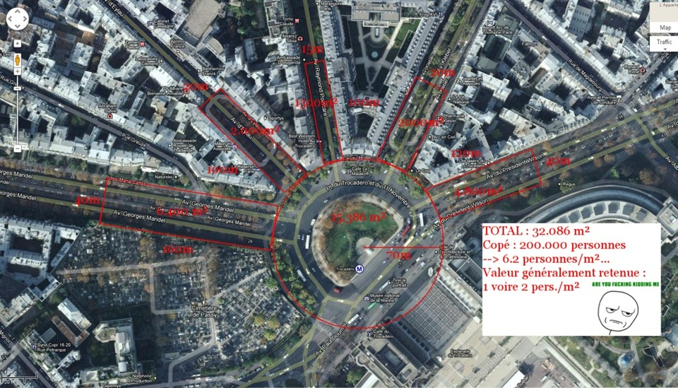« 200 000 personnes » au Trocadéro : pourquoi pas deux millions ?