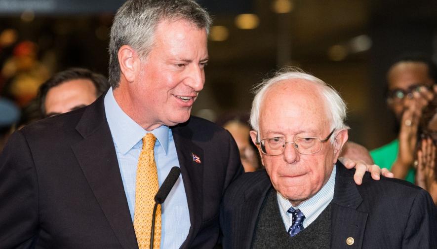 Le maire de New York, Bill de Blasio, soutient Bernie Sanders