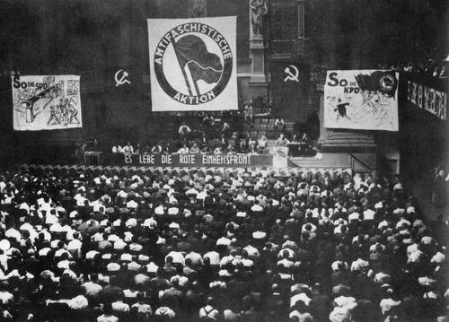 """Le 10 juillet 1932, le Parti Communiste d'Allemagne (KPD) lance """"l'action-antifasciste"""""""