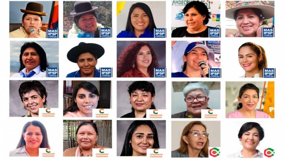 Les 20 sénatrices élues (sur 36 sièges)
