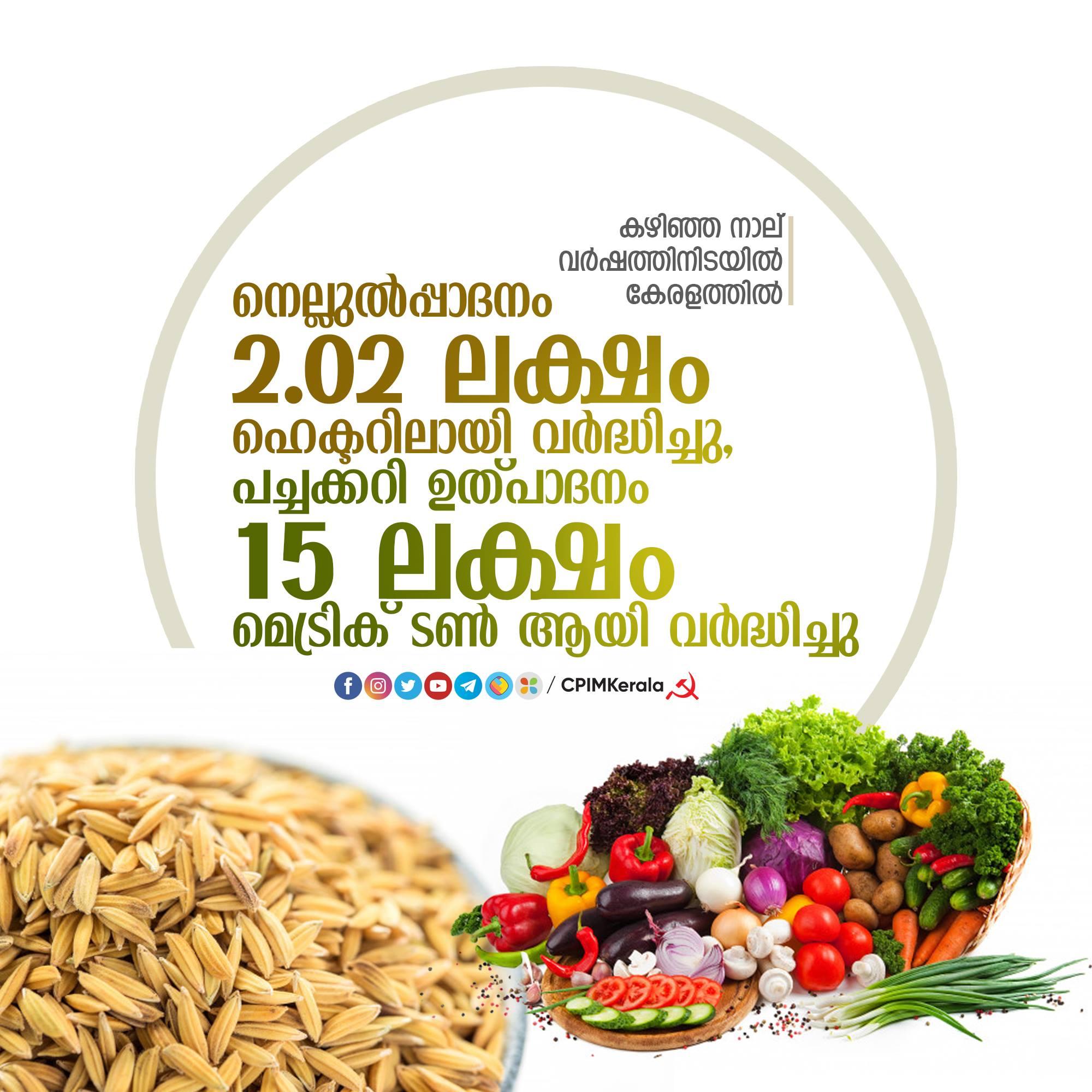 Le Kerala est en train de gagner la bataille de l'autosuffisance alimentaire