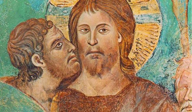Le baiser de Judas, fresque du XIIIème siècle