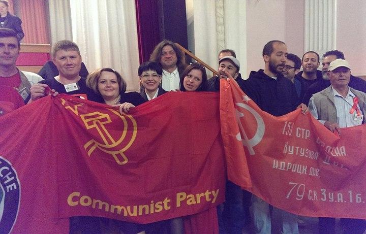 Ils sont venus soutenir les communistes de Lugansk