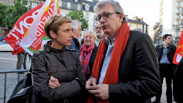 """Le duo Clémentine Autain et Pierre Laurent  pour """"une politique ambitieuse de gauche"""" en Île-de-France"""