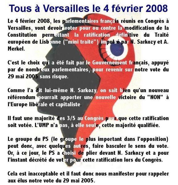 Le 4 février tous à Versailles !