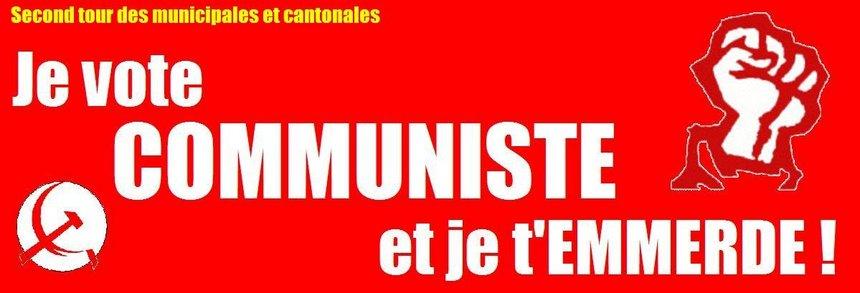 Résistez, votez communiste